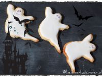 Halloween-Cookies in Gespenster-Form