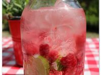 Rasberry lime water