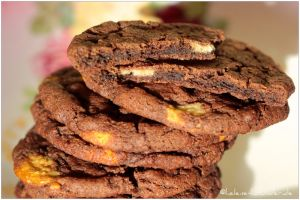 Chocolate-Peanutbutterchips-Cookies