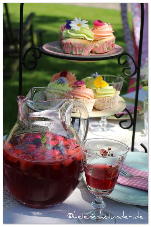 Cupcakes vegan, Erdbeerbowle, Helene Holunder